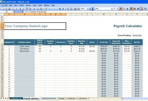 Excel Payroll template | Free source code, tutorials and
