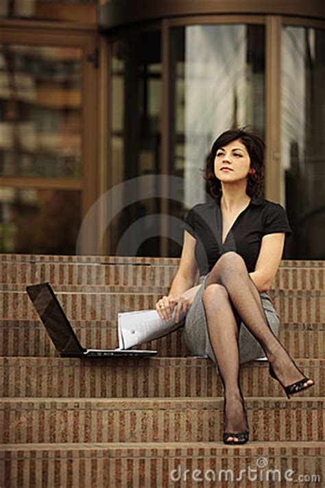 Busy Lady With Sexy Legs Royalty Free Stock Photo - Image
