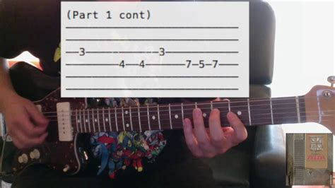 """How to Play """"Zelda Theme"""" (NES Version) Guitar Lesson"""