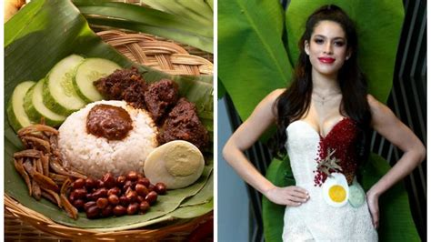 Miss Universe Malaysia spices things up in a nasi lemak