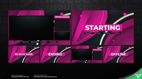 'Spectrum' Stream Screen Package: Overlay Screens for