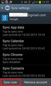 How do I back up data to my Google account from my Samsung