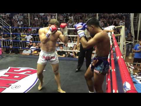 Muay Thai pad work with fighters from Phuket Top Team MMA