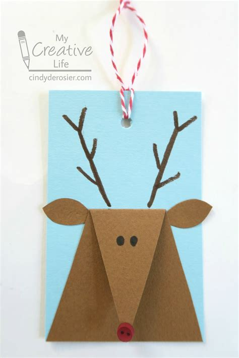 Reindeer Gift Tags   Fun Family Crafts