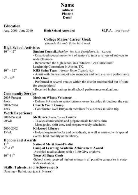 How do you proofread your high school resume?   Fotolip