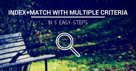 How to Use INDEX+MATCH with Multiple Criteria in 5 Steps