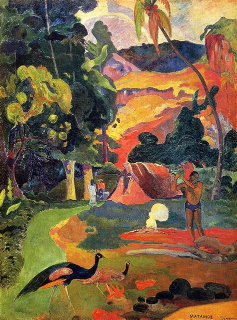 Landscape with peacocks - Paul Gauguin - WikiArt