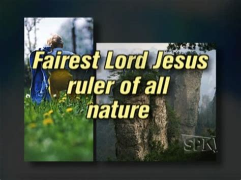 Fairest Lord Jesus Video Worship Song Track with Lyrics