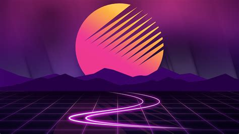 Sunset Neon Artwork Wallpapers | HD Wallpapers | ID #24369