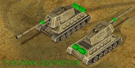 T-100 Tank destroyer image - The End of Days mod for C&C