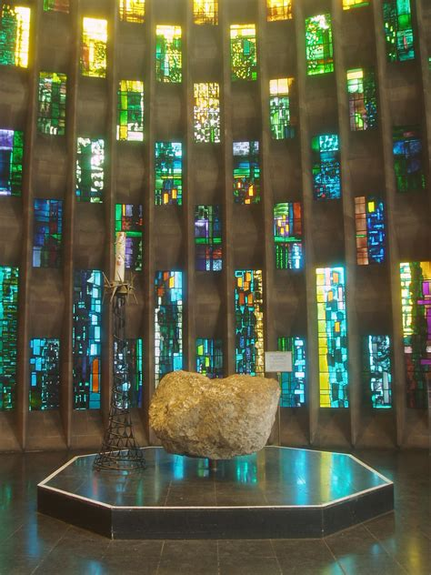 Font, Coventry Cathedral | Detail of the Baptistry Window