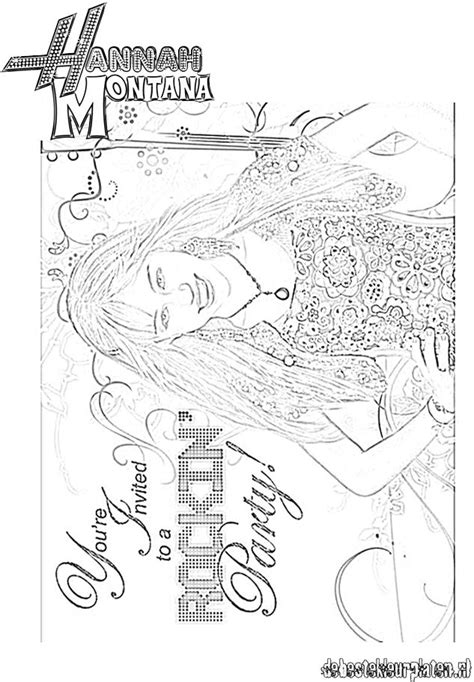 Hannah-Montana6 - Printable coloring pages