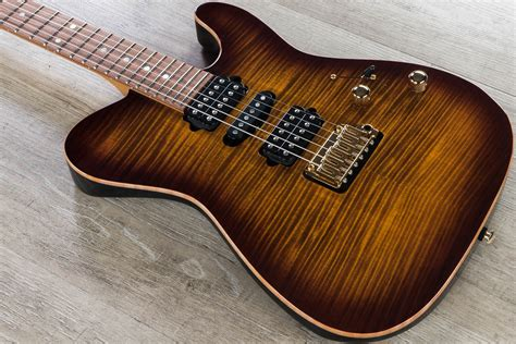 Suhr Modern T Custom HSH Electric Guitar, Flame Maple Top