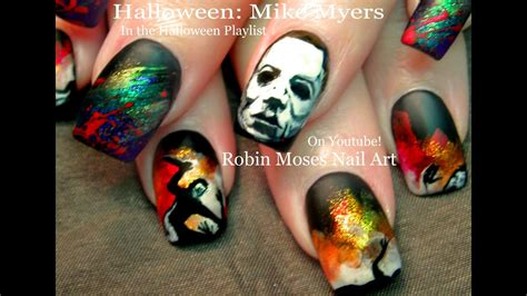 HALLOWEEN Nails | DIY Scary Mike Myers Nail Art Design