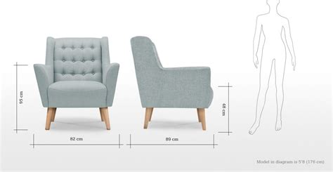 Quentin Armchair in glacier blue | made