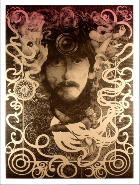 George Harrison Ultimate Fan Poster Tinted Silver Ink