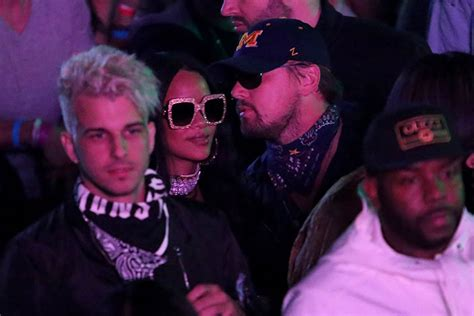 Rihanna and Leonardo DiCaprio Party in the Desert at Neon