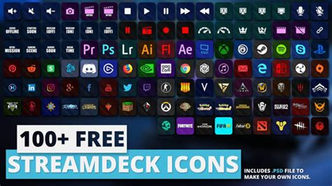 Stream Deck Icons - Top 4 Sources to Download Free Packs