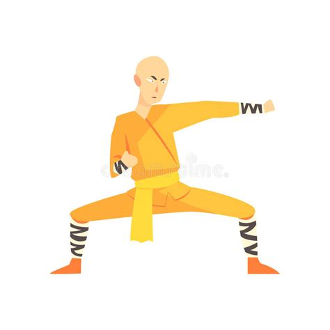 Kung Fu Fighter, Martial Arts Action Cartoon Graphic