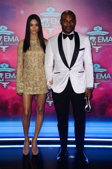Tyson Beckford and girlfriend Shanina Shaik posed together