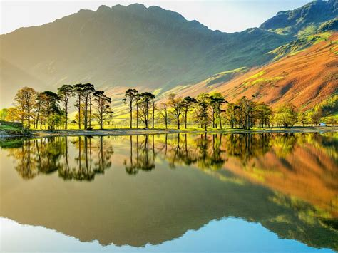 National Park Cumbria Lake Buttermere England Mountains