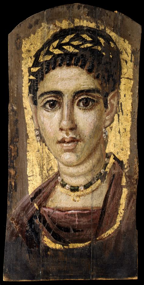 """""""Portrait of a Young Woman with a Gilded Wreath"""" - A Fayum"""