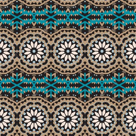 Vector ethnic colorful bohemian pattern — Stock Vector